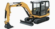 Bergerat Monnoyeur Inchirieri Caterpillar Mini-excavators to rent