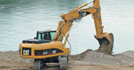 Bergerat Monnoyeur Inchirieri - hydraulic and wheel excavators Caterpillar to rent
